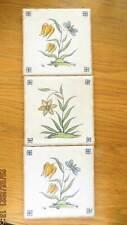 3 alte  FLIESEN  KACHELN Villeroy & Boch - Blumen - B296