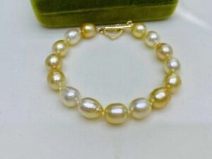 natural baroque south sea gold  pearl bracelet
