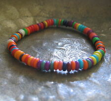 Gummiarmband bunt rot grün orange rot weiß neu Bracelet Armband Damenarmband