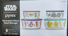 Pyrex Star Wars 8 Piece Set Glass Food Storage Containers with Lids SHIPS TODAY