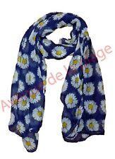 Foulard cheche écharpe fleur d'hibiscus accessoire de mode XXL 170x90 cm NEUF
