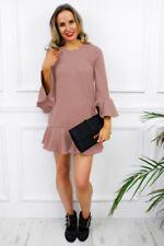 Vestiti da donna maniche a 3/4 tubini rosa
