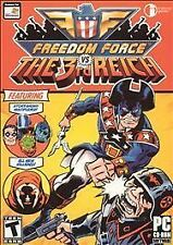 FREEDOM FORCE VS THE 3RD REICH Action PC Game NEW BOX!