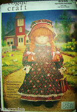 "Vogue 8336 UNCUT Pattern 18"" Early American Doll & Clothes Dress Boots Bonnet +"