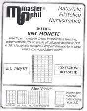 Master Phil Confezione 10 fogli per contenere monete formato UNI  da 30 spazi