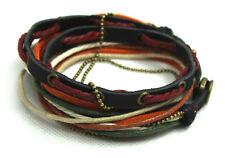 El tíbet serie! pulsera enrollada Leather Bracelet pulsera de cuero unisex! pulsera de estilo surfista