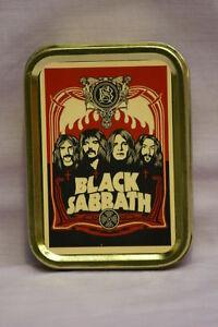 Black Sabbath Classic Rock Music Band Cigarette Tobacco Storage 2oz Tin