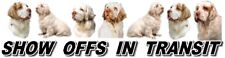 CLUMBER SPANIEL Show Off Dog Car Sticker By Starprint