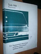 Saab 900 : manuel atelier partie 3:2 Equipement électrique schémas final 1994