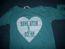 H&M - T-Shirt z.Knoten  146/152   Grün m.Glitzer-Print   sehr hübsch  TOPZUSTAND