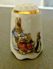 More details for reutter porcelain beatrix potter peter rabbit thimble -  boxed.