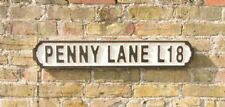 New Retro Vintage Novelty Wooden Football Penny Lane L18 Street Road Sign Plaque