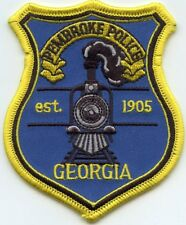 PEMBROKE GEORGIA GA train POLICE PATCH