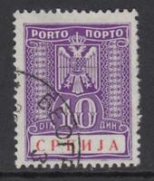 GERMANY - REICH 1941-1945 occ SERBIEN Mi Porto 14 very fine used