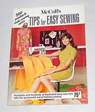1968 Vintage McCall's Magazine Tips For Easy Sewing Illustrated Book And Guide