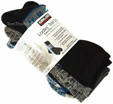 4 Pairs Merino Wool Socks Work, Walking, Hiking, Ladies / Womens Size 3-8 Blues