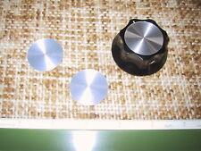"""PAIR, Spun Aluminum Knob inlays for Alpha 76 or 78. (Uses 2"""" dia. Dakaware knob)"""