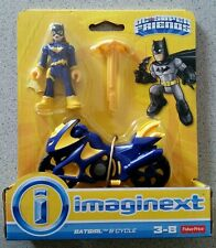 Batgirl and Cycle IMAGINEXT Fisher Price DC Super Friends Batman HTF NISB