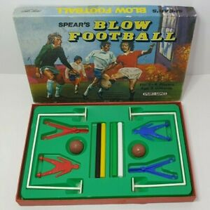 Vintage 1976 SPEARS Blow Football Game in Original Box
