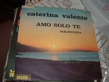 """CATERINA VALENTE """" AMO SOLO TE - MALINCONIA """" ITALY'63"""