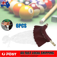 6pcs Leather Billiard Pocket Pool Snooker Pool Table Replacement Nets Bags Set