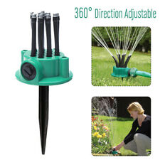 Garden Lawn Rotating Sprinkler Noodle Head Grass Watering System Water Spray Us