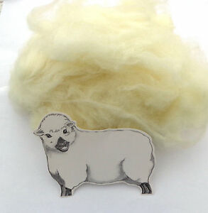 SOFT NATURAL WHITE CORE WOOL / NEEDLE FELTING WOOL FOR FAST, FIRM FELTING 200g