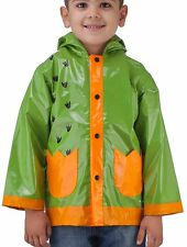 Puddle Play Little Boy's Dinosaurs Green Raincoat - Size 2T-7 GNR61132