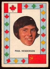 1972 73 OPC TEAM CANADA Paul Henderson VS RUSSIA HOCKEY SERIES VGEX Maple Leafs