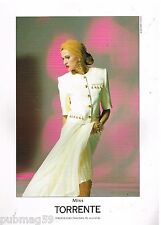Publicité Advertising 1990 Haute couture Miss Torrente