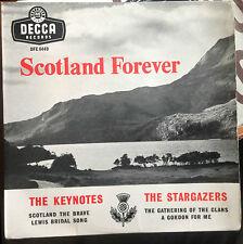"The Keynotes/The Stargazers Scotland Forever UK 1958 7"" E.P. Decca Tri"