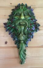 Winters Watch Greenman Large Decorative Garden Wall Plaque Green Man New & Boxed