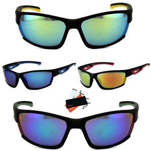 Sportbrille Sonnenbrille Rad Sport leicht schwarz Damen Herren Verspiegelt VSP2