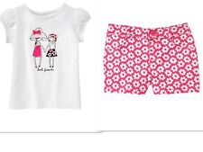 NEW GYMBOREE Girls Shorts Outfit Daisy Park Top NWT  SIZE 12-18 MONTHS