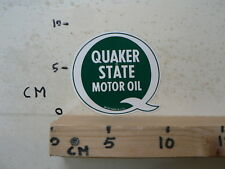 STICKER,DECAL QUAKER STATE MOTOR OIL MADE IN USA