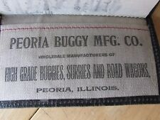 1899 ADVERTISING NOTEBOOK PEORIA BUGGY MFG CO , BUGGIES & ROAD WAGONS