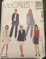 McCall's Pattern # 2088 Misses Jacket Top Pants and Skirt Size 8,10.12 uncut