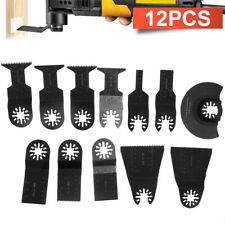 Quality 12pcs Saw Blades Oscillating Multi Tool For Fein Bosch Dremel Ridgid Us
