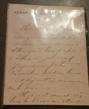 Fevrier 1879+Senat+Versailles+General Clinchant+Signature du Senateur+Clinchant