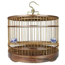 Asian Bird Cage Solid Sandalwood Carved Chinese Wooden Pet Nest Home