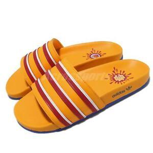 adidas Adilette x EE Yellow Red Men Unisex Sandal Slides Slipper Slip On H02574