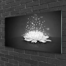 Tulup Print on Glass Wall art 100x50 Picture Image Flower Floral