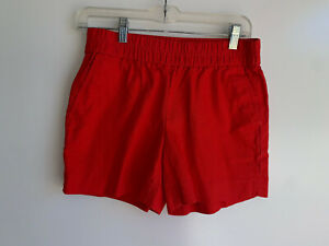 "J.CREW Women's Red Cotton Pull-On 5"" Boardwalk Shorts {C0434} Size 2 ~ EUC"
