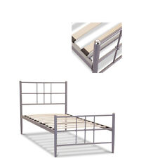 Braemar Aluminium Bed Frame - Single 90cm 3ft With a sprung base