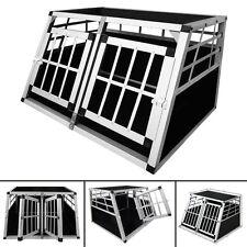 Trasportino Doppio gabbia  in alluminio  per cani da auto  Small L 89 cm