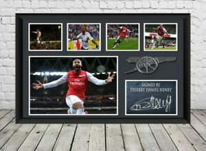 Thierry Henry Signed Photo Poster Print Football Arsenal FC Memorabilia
