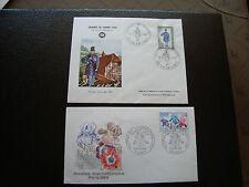 FRANCE - 2 enveloppes 1er jour 1968/1969 (journee du timbre/floralies) (cy87)