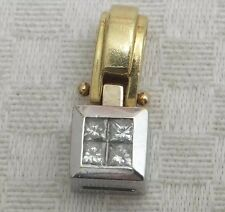 18k Gold Princess Cut Diamond 18ct Pendant