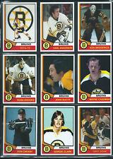 BOSTON BRUINS 1974-75 High Grade NHL Custom Made Hockey Cards U-Pick THICK