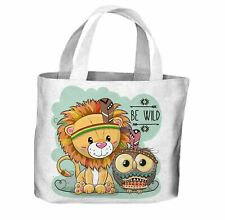 Be Wild Tribal Animals All Over Tote Shopping Bag For Life